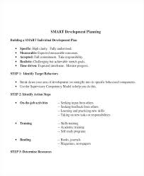 Personal Development Plan Simple Template Action Leadership Example ...