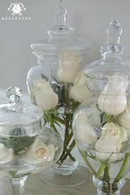 Flowers in Apothecary Jars
