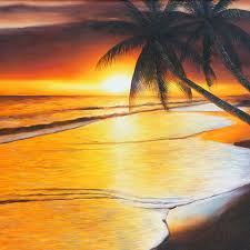bali painting sunset beach 427 oil painting 100 cm x 80 cm