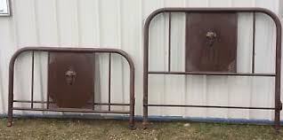 vintage metal bed frame. Delighful Frame Antique Vintage Metal Bed Frame Double Headboard And Footboard No Rails  Flower To M