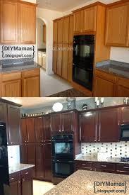 Diy Kitchen Cabinets Makeover Diy Mamas Kitchen Makeover Gel Stain Backsplash Hardware