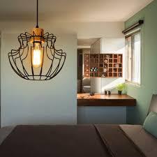 industrial loft lighting. Vintage Loft Style Pendant Lights Nordic Retro Bar Coffee Shop Fixture Metal Lampshade Industrial Lighting Cage L