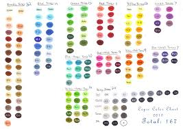 Copic Swatch Chart Basic Color Chart Tweaked Color Chart Can