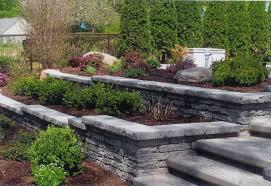 gardening with retainer walls