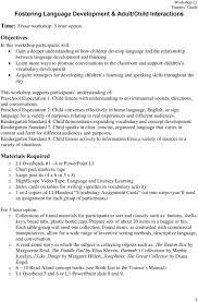 Child Vocabulary Development Chart Fostering Language Development Adult Child Interactions Pdf