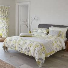 soothing grey bedding yellow grey bedding sanderson wisteria blossom at bedeck along with yellow in yellow