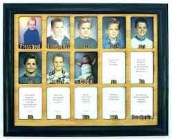 personalized collage frame school picture collage frame school year frame school years picture frame personalized with any name color personalized collage