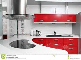 Red Kitchen Red Kitchen Royalty Free Stock Images Image 12972069