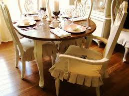 Linen Dining Room Chair Slipcovers Seat Cover For Dining Chair Clean Simple Wrap Around Design That