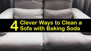 to clean a sofa with baking soda