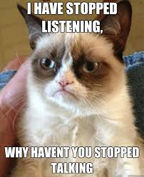 i have stopped listening, why havent you stopped talking - Misc ... via Relatably.com