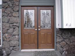 double entry front doorsExterior Entrancing Small Front Porch Decoration Using Solid Oak