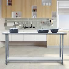 Stainless Steel Kitchen Tables Sportsman Stainless Steel Kitchen Utility Table Sswtable72 The