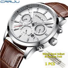 CRRJU <b>Fashion Men</b> Watches Quartz Wristwatches <b>Men 30M</b> ...