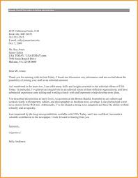 Interview Thank You Letter Examples Public Works Director Resume