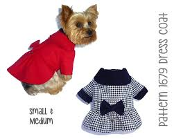 Designer Dog Clothes And Accessories Amazon Com Dress Dog Coat Pattern 1679 Dog Sewing
