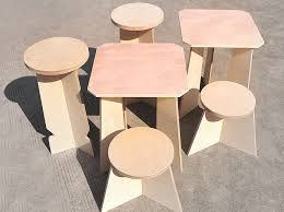 furniture flat pack. byproducts transforms waste wood offcuts into flat pack furniture