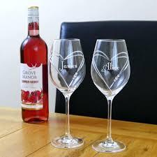 swarovski crystal wine glasses white set of two