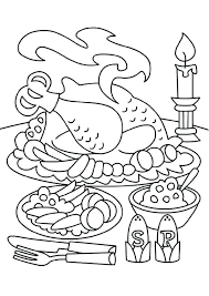 Dinner Coloring Page Color It Steak Thanksgiving Pages