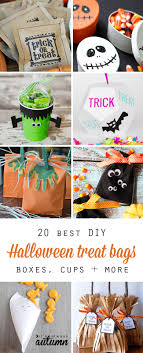 homemade halloween candy bags. Simple Bags 20 Best DIY Halloween Treat Bag Boxes Cups And More Perfect Favors With Homemade Candy Bags N