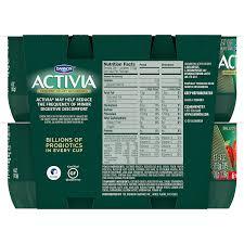 Activia Light Sugar Content Dannon Activia Lowfat Yogurt Strawberry Peach Variety