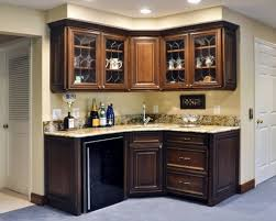 Modern Basement Wet Bar Corner With Wet Bars