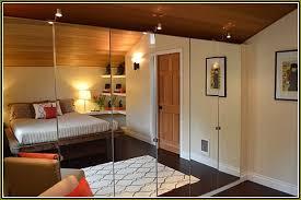 Frameless Mirrored Bifold Closet Doors Home Design Ideas