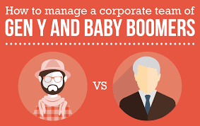 how to manage a corporate team of gen y and baby boomers view larger image