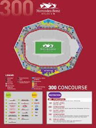 Atlanta Falcons Virtual Seating Chart Map Of Concourse 300 Mercedes Benz Stadium
