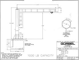 Jib Crane Base Plate Design List Of Used Cranes Hoists R W Hoist Repairs Ltd