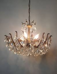 small spider multi arm crystal aged brass chandelier rewired 11 of 11