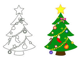 Christmas Tree Outline Coloring Pages  Coloring PagesChristmas Tree Outline Clip Art