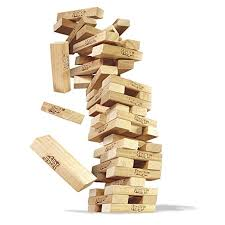 Game With Wooden Blocks Buy Jenga Wood Block Game JENGA TUBE PACK Pack of 41 F Online at 2