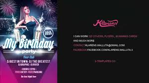 Birthday Flyers Template My Birthday Party Flyer FREE PSD Template YouTube 13
