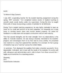 Letter Of Recommendation For A Teacher Colleague Cycling