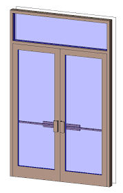 double aluminum door with transom