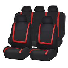 full car seat covers set red black for auto truck suv 0