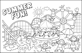 Summer Coloring Page 34606