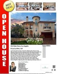realtor open house flyers open house flyer template free best business template
