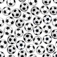 Soccer Ball Pattern Enchanting Sporting Themed Pattern Of Football Game With Bright Cartoon