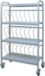 Mobile Chart Rack 24 Space Rack 3 Binders Chart Pro
