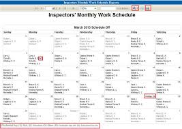 Schedule To Print Inspector Schedule Manager Report