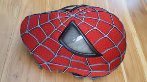 spider man costume replica mask with magnetic eye frames unfinished you
