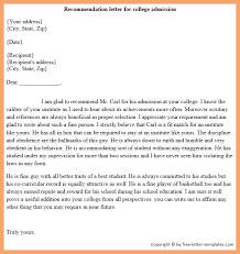 Letters Of Recommendation Personal How To Write A Recommendation Letter Sample Templates