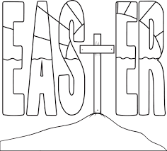 Free Printable Easter Cross Coloring Page For Kids Supplyme