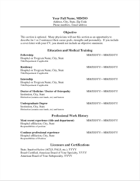 Sample Physician Curriculum Vitae Template Physician Resumes