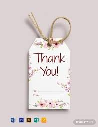 Gift Tag Template Publisher Free Thank You Gift Tag Template Word Psd Apple Pages