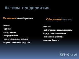 Презентация на тему Задачи и решения Активы предприятия  2 Активы предприятия