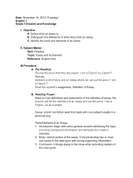 collection of lesson plans practice teaching adjective essays