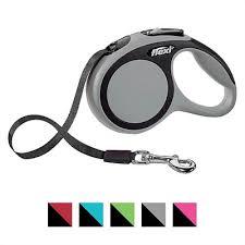 <b>Flexi Comfort</b> Nylon <b>Tape</b> Retractable Dog Leash, Grey, X-Small: 10 ...